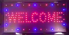 Animated Motion Led Business Welcome Sign +On/Off Switch Bright Open Light Neon