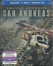 San Andreas - Dwayne Johnson (Blu-ray Disc, 2-Disc Steelbook+Digital Copy) NEW!!