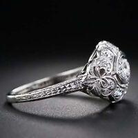 Ring Topaz Fashion 6-10 Engagement Women Size beautiful White Jewelry Wedding