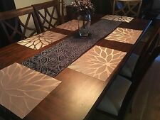 Set of 4 Kitchen Dining Table Placemats Washable Heat Resistant Fall Brown Woven