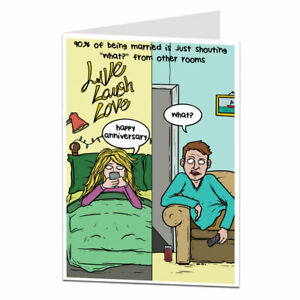 Funny Wedding Anniversary Card