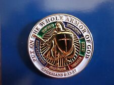 PUT ON THE WHOLE ARMOR OF GOD HAT LAPEL PIN EPHESIANS 16:13-17 SPIRITUAL NEW