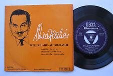 EP Will Glahe - Autogramm - DECCA Füllschrift - Quecksilber Zärtlicher Tango