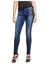 Guess Women's Mid Rise Biker Zip Skinny Jeans Size 23
