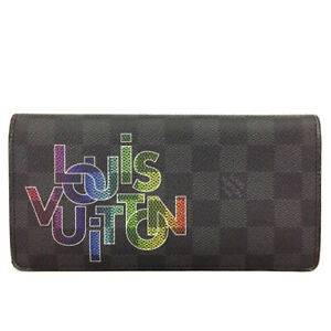 Louis Vuitton Damier Graphite Porte feiulle Brazza Long Wallet Purse /91771