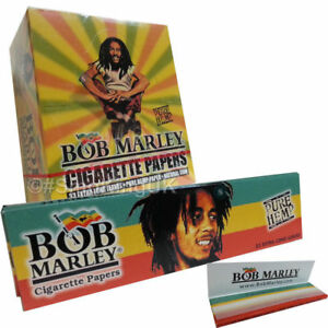 5 x BOB MARLEY Pure Hemp Cigarette Rolling Papers Rizla King Size UK