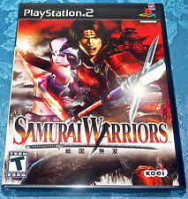 Samurai Warriors Sony PlayStation 2 PS2 SYSTEM GAME FACTORY SEALED NEW KOEI RARE