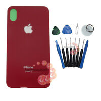 Red Battery Rear Glass Cover Housing Back Door Replacement For iPhone X +Tools