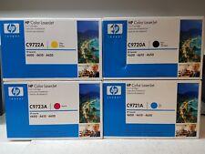 NEW GENUINE HP C9720A C9721A C9722A C9723A Set Color Toner 4600 Sealed - OEM Box