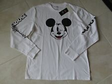 NEW Levi's X Disney Mickey Mouse Graphic Long Sleeve T-Shirt M White $34.50