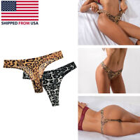 Women Sexy G-String Leopard Seamless Panties T-back Thongs Lingerie Underwear