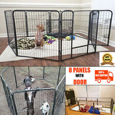 Extra Large Dog Pen 40 Inch Tall Pet Playpen with Door 8 Panels Cat Cage Kennel