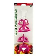 Ravioli Pasta Maker Stamp Mold Set - 4 pc - Square - Triangle - Heart - Circle