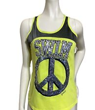 Justice Yellow/Lime Swim Sequin Peace Size 16