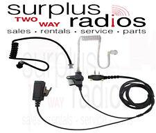 2 WIRE SURVEILLANCE HEADSET PTT + BLACK KTUBE FOR ICOM F3001 F4001 F4011 F3011
