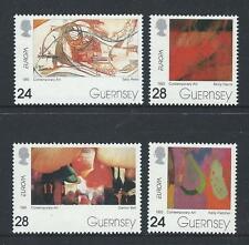 GUERNSEY 1993 EUROPA ART SET OF 4 UNMOUNTED MINT, MNH