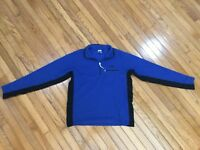 North Face Men's Blue / Black 1/4 Zip Fleece Pullover Size L