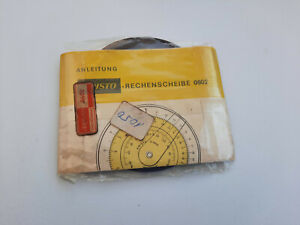 Vintage Aristo Nr.0602 Circular Slide Rule with Case Germany New! NOS! Very Rare