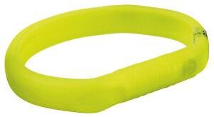 Trixie 12684 Flash Leuchtband USB, Silikon M–L: 50 cm/18 mm grün für Hunde