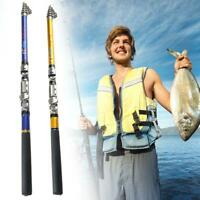 Mini canne à pêche en alliage d'aluminium de stylo de poisson télescopique