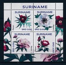 [SU1795] Suriname Surinam 2011 Flowers Roses  Peonies MNH