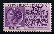 ITALIA REP. - 1954 - Propaganda per la denuncia del reddito
