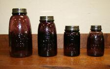 Purple Mason Fruit Jars:1/2 Gal, Quart, Pint & Midget—Set of 4 Canning Jars-1858