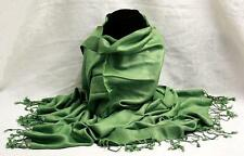 Large Green Pashmina Tribal Ethnic Gypsy Dance Scarf Wrap Shawl Women Lady Girl