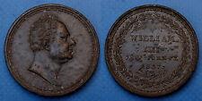 Médaille Commémorative Anglaise William IIII. Obit June XX. 1837. Etain
