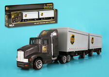 DARON REALTOY RT4345 UPS Tandem Tractor Trailer 1/87 scale die cast.  New