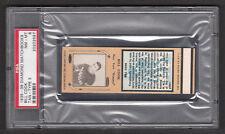 Bill Cook 1935-36 Diamond Match Tan Hockey Matchbook PSA 8 NM-MT 1/1