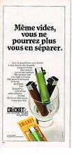 PUBLICITE  1970   CRICKET   briquet