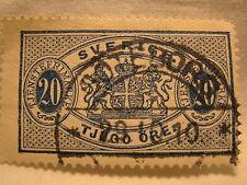 Sweden Stamp 1881 93 Scott 020 01 Blue Official 20