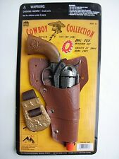 REPLICA Pistol Cowboy western Holster HEAVY CAST METAL Toy CAP GUN Italy