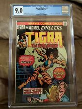 Marvel Chillers  #3  CGC 9.0 (VF/NM)  WHITE Pages!  February 1976  TIGRA Origin!