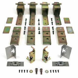 Complete 2 Dr Adjustable Suicide Hidden Door Hinge Kit + Latches Street Rod Hot