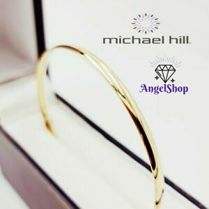 Michael Hill 10ct Yellow Gold Bangle 60mm Solid Gold 10K