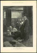 """1888 - Antique Print FINE ART """"For Faith and Freedom"""" Walter Besant (060)"""