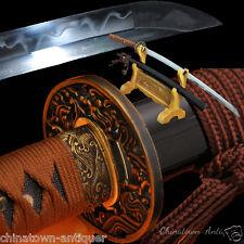 Samurai SwordBroadsword Katana Clay Tempered 1095 High Carbon steel Sharp #2459