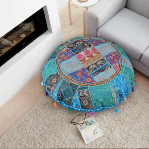 ALL SIZE Pillow Cover Patchwork Round Floor Large Cushion Covers Handmade Decor