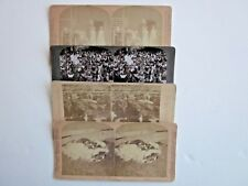 4 ANTIQUE STEREO Views Farm Animals Cow Chicken Steer Cattle Pigs Hogs Photo