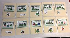 10 File Folder  Set - Laminated - Activity  - Teaching  READING MATH -Froggy Kit