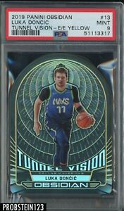 2019 Panini Obsidian Electric Etch Yellow Die-Cut #13 Luka Doncic /10 PSA 9 MINT