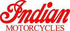 INDIAN MOTORCYCLES VINYL DECALS - SET OF 2 - RED