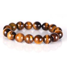 Natural Tiger Eye Stone Lucky Bless Beads Men Woman Jewelry Bracelet Bangle TK