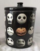 Nightmare Before Christmas Jack Skellington Faces Kitchen Canister Cookie Jar