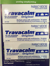 BRAND NEW 3 x 10 TABLETS TRAVACALM ORIGINAL for travel sickness - FREE POST