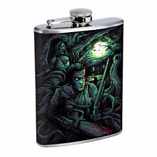 Horror Chainsaw Moon Em1 Flask 8oz Stainless Steel Hip Drinking Whiskey