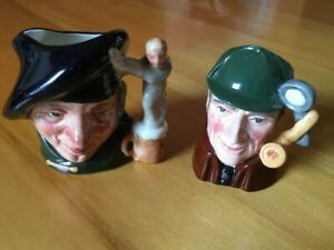 "Royal Doulton ""Tam O'Shanter & The Sleuth"" Toby Jugs"