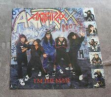 Anthrax 1987 Im the Man Scott Ian Island Atlantic Record Music Promo Poster Vgex